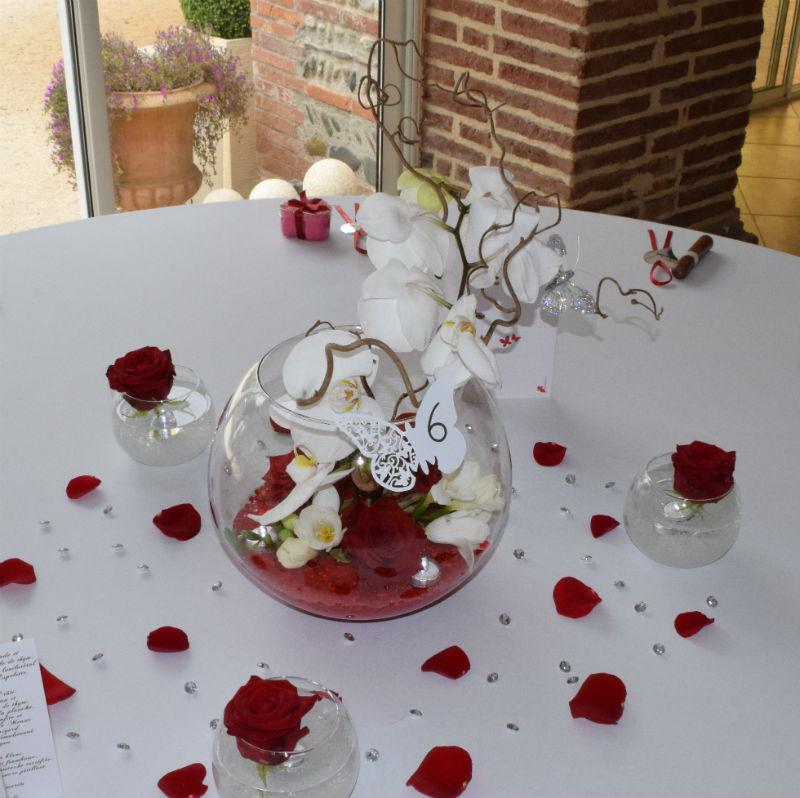 Decoration Centre De Table Florale Mariage